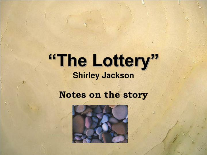the lottery shirley jackson n.