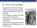 iii silent cal coolidge