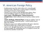 vi american foreign policy