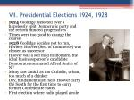 vii presidential elections 1924 1928