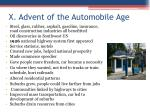 x advent of the automobile age1