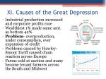 xi causes of the great depression