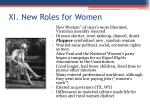 xi new roles for women