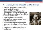 xi science social thought and modernism
