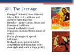 xiii the jazz age