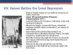 xiv hoover battles the great depression