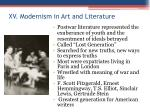 xv modernism in art and literature1