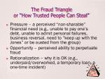 the fraud triangle or how trusted people can steal