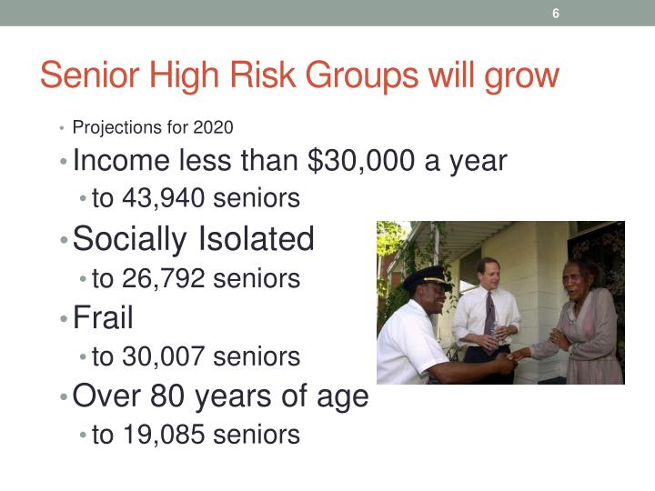 Senior High Risk Groups will grow