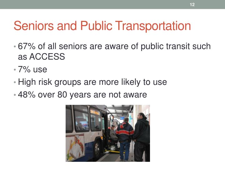 Seniors and Public Transportation