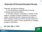 destruction of personal information records1