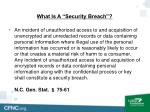 what is a security breach