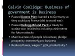 calvin coolidge business of government is business