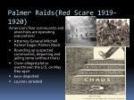 palmer raids red scare 1919 1920