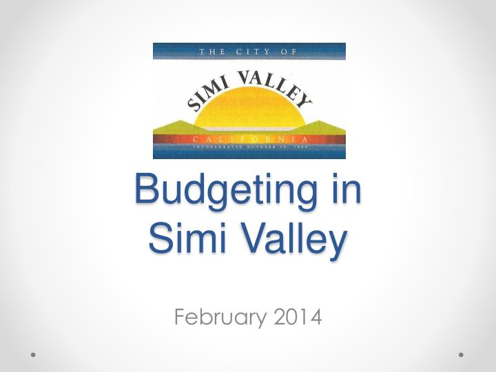 budgeting in simi valley n.