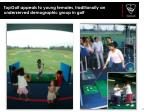 topgolf appeals to young females traditionally an underserved demographic group in golf
