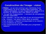 construction de l image vision