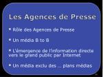 les agences de presse