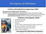 the engineer of 2020 report