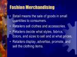 fashion merchandising