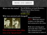 crime and arrest