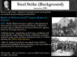 steel strike background september 1919