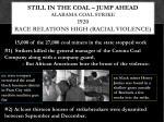 still in the coal jump ahead alabama coal strike 1920 race relations high racial violence