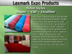 lexmark exhibition products