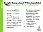 sample occupational titles associated with corrections juvenile justice
