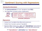 sentiment scoring with regressions