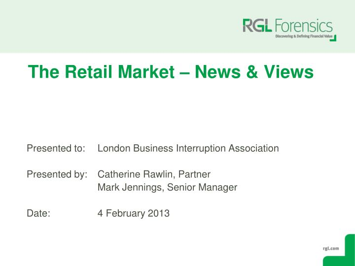 the retail market news views n.