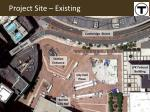 project site existing