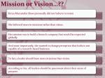 mission or vision
