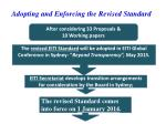 adopting and enforcing the revised standard