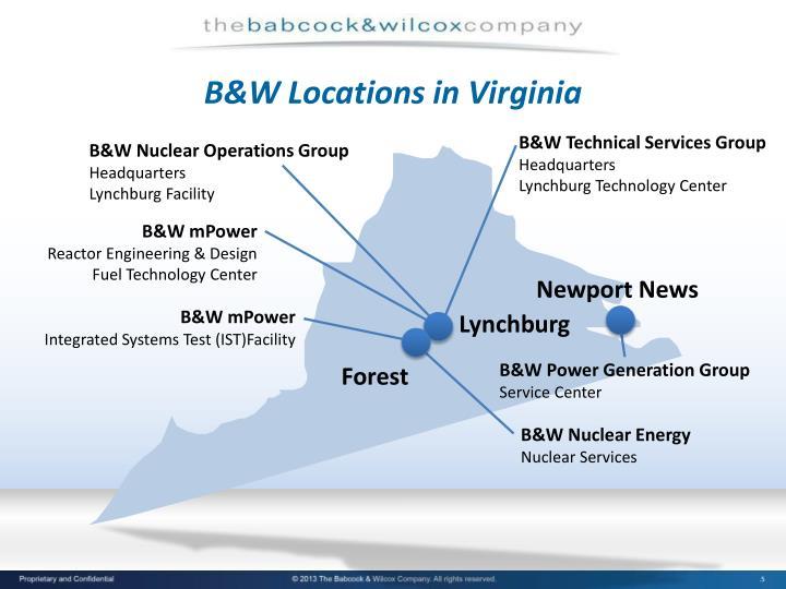 B&W Locations in Virginia