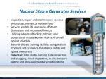 nuclear steam generator services