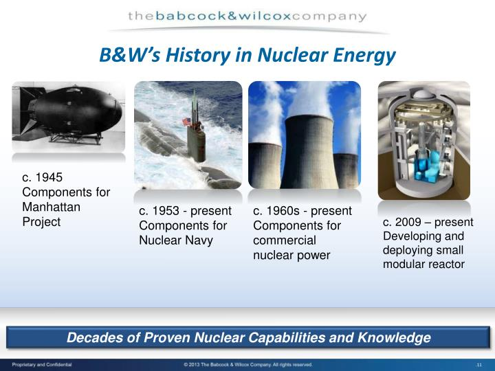 B&W's History in Nuclear Energy