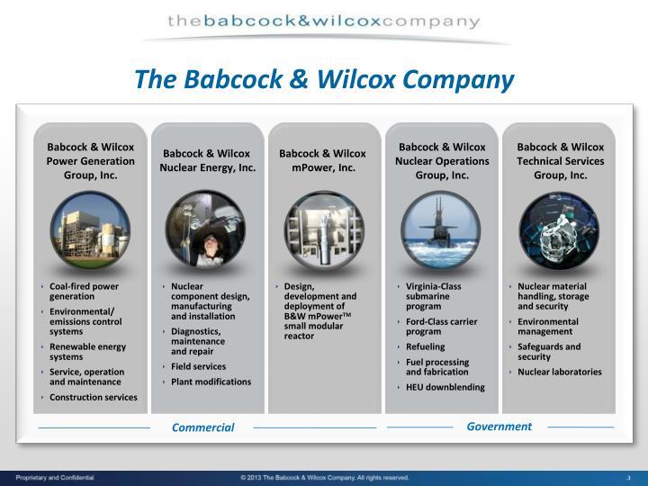 The babcock wilcox company