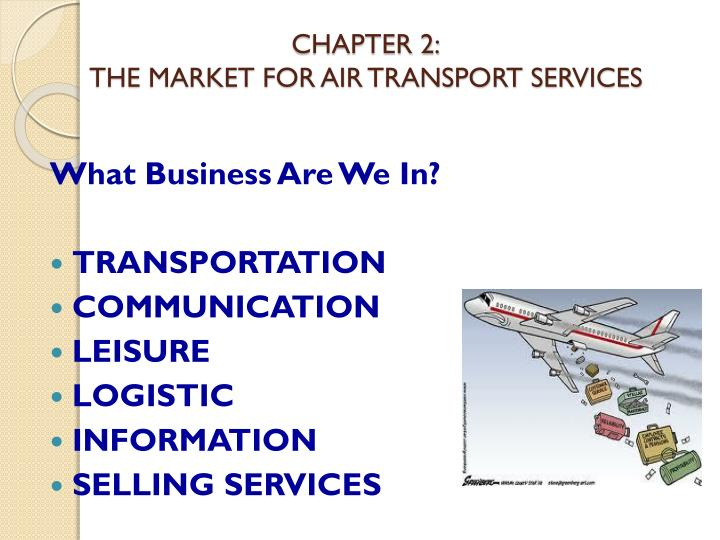 chapter 2 the market for air transport services n.