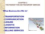 chapter 2 the market for air transport services