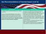 8 e recommendations potential impact cont d1