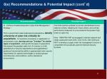 8 e recommendations potential impact cont d2