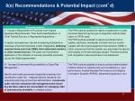 8 e recommendations potential impact cont d3