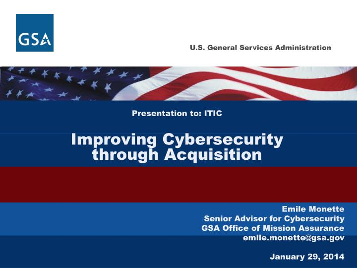 presentation to itic improving cybersecurity through acquisition n.