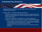 presidential policy directive 21