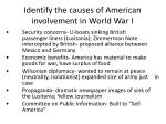 identify the causes of american involvement in world war i