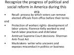 recognize the progress of political and social reform in america during this era1