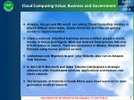 cloud computing value business and government