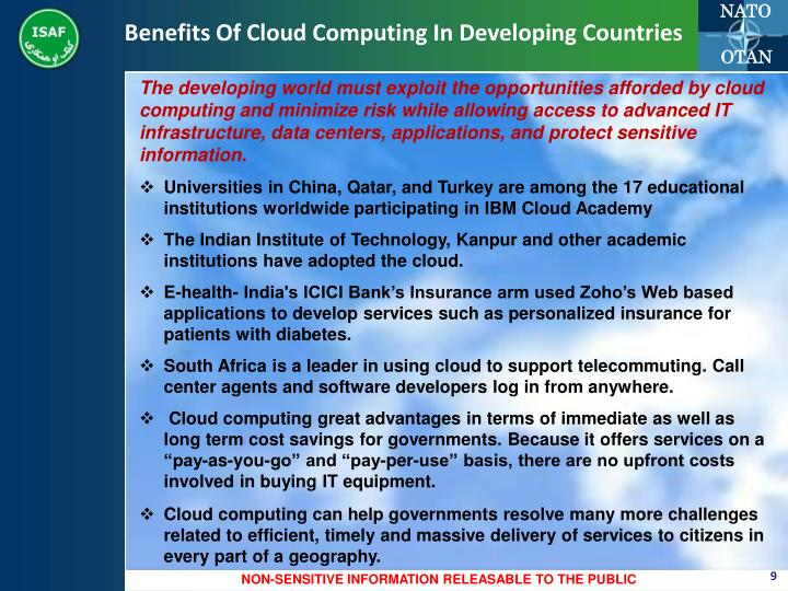 Benefits Of Cloud Computing In Developing Countries