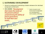 1 sustainable development